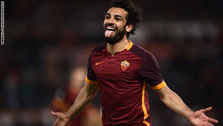 محمد صلاح مع روما الإيطالي في 2016