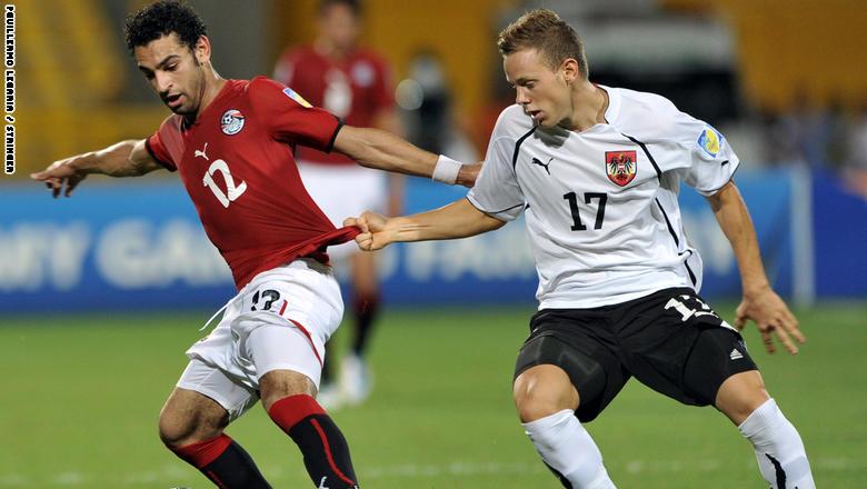 محمد صلاح عام 2011 في مباراة مصر والنمسا بكأس العالم للشباب