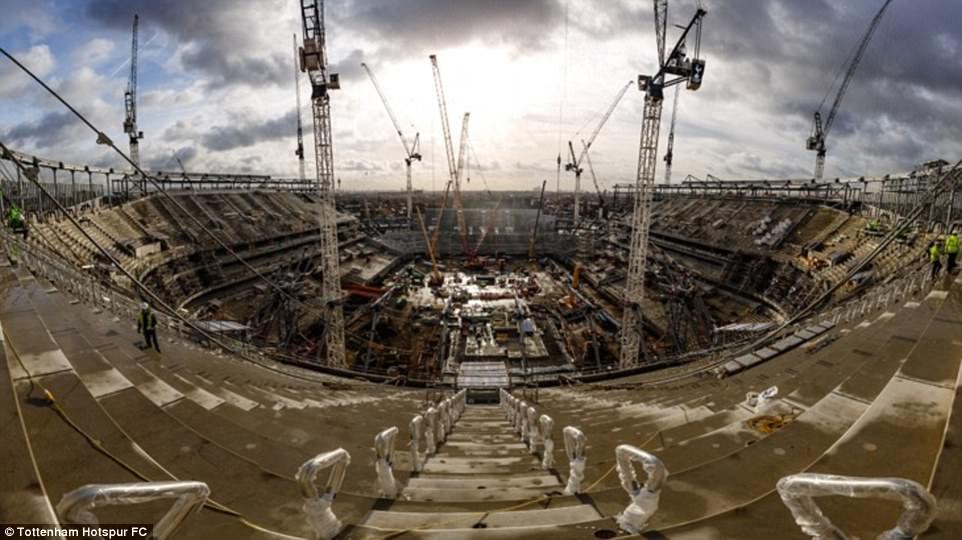 أعمال البناء في ملعب توتنهام (3)