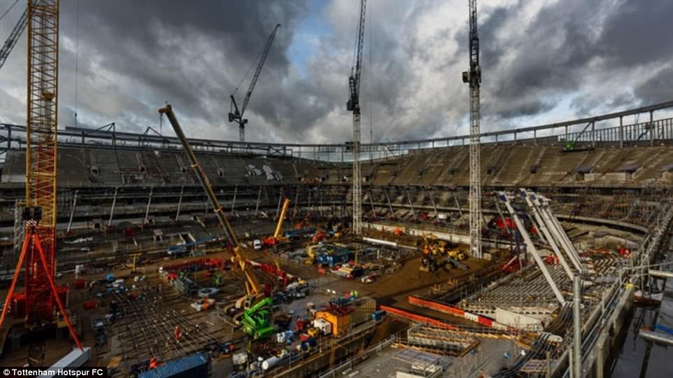 أعمال البناء في ملعب توتنهام (8)