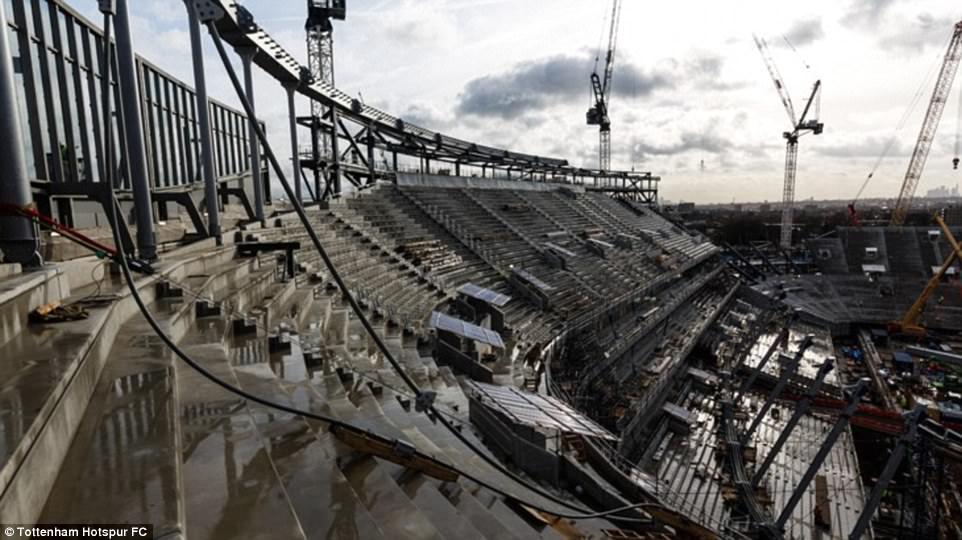 أعمال البناء في ملعب توتنهام (2)