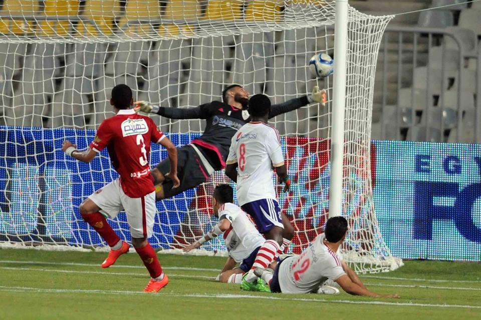 أحد لقطات مباراة الأهلي والزمالك