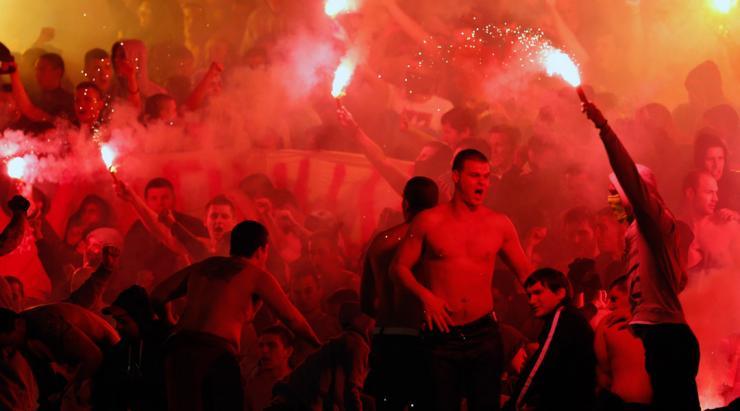 الشغب يتواجد خلال ديربي صربيا