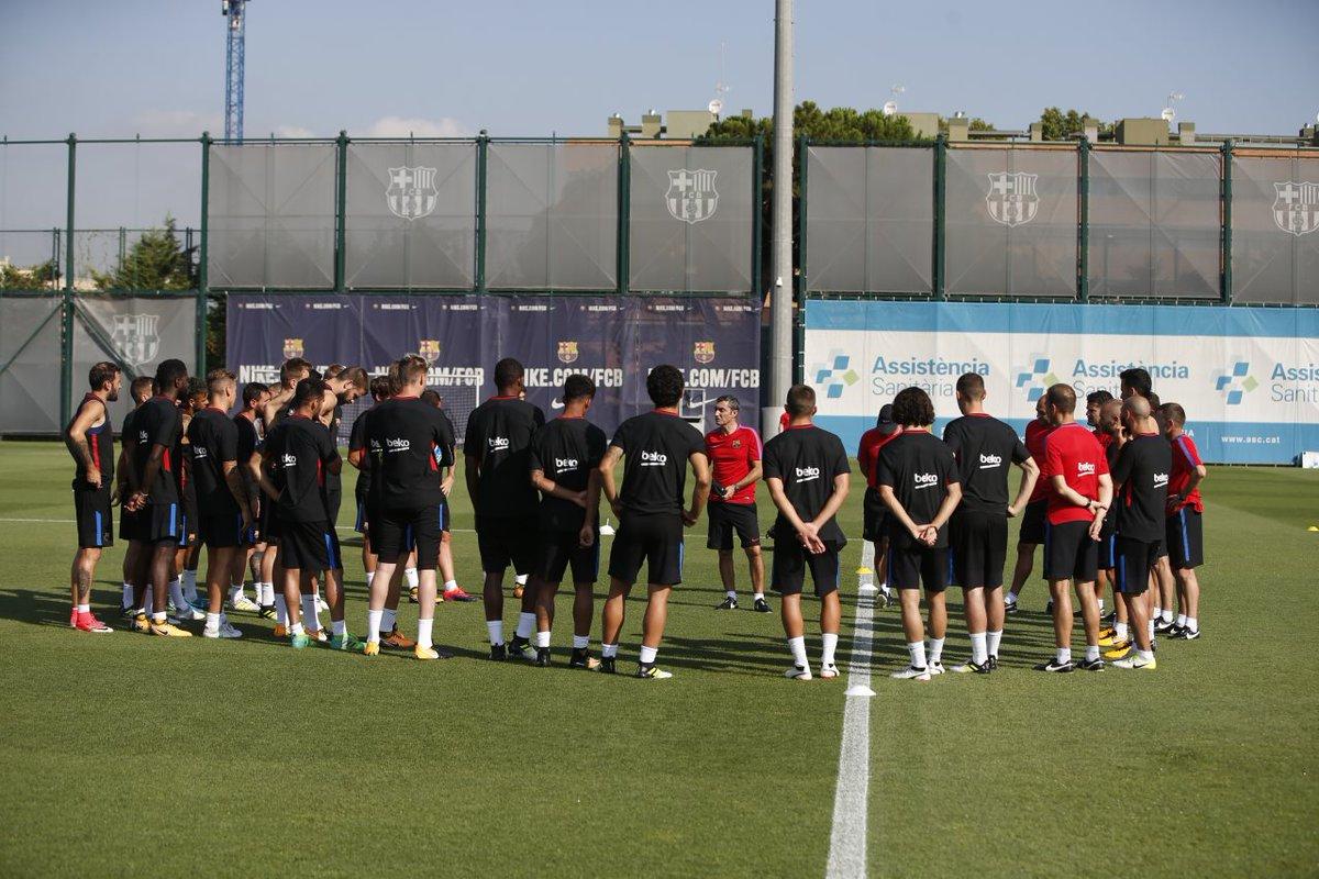 فالفيردي في تدريبات برشلونة