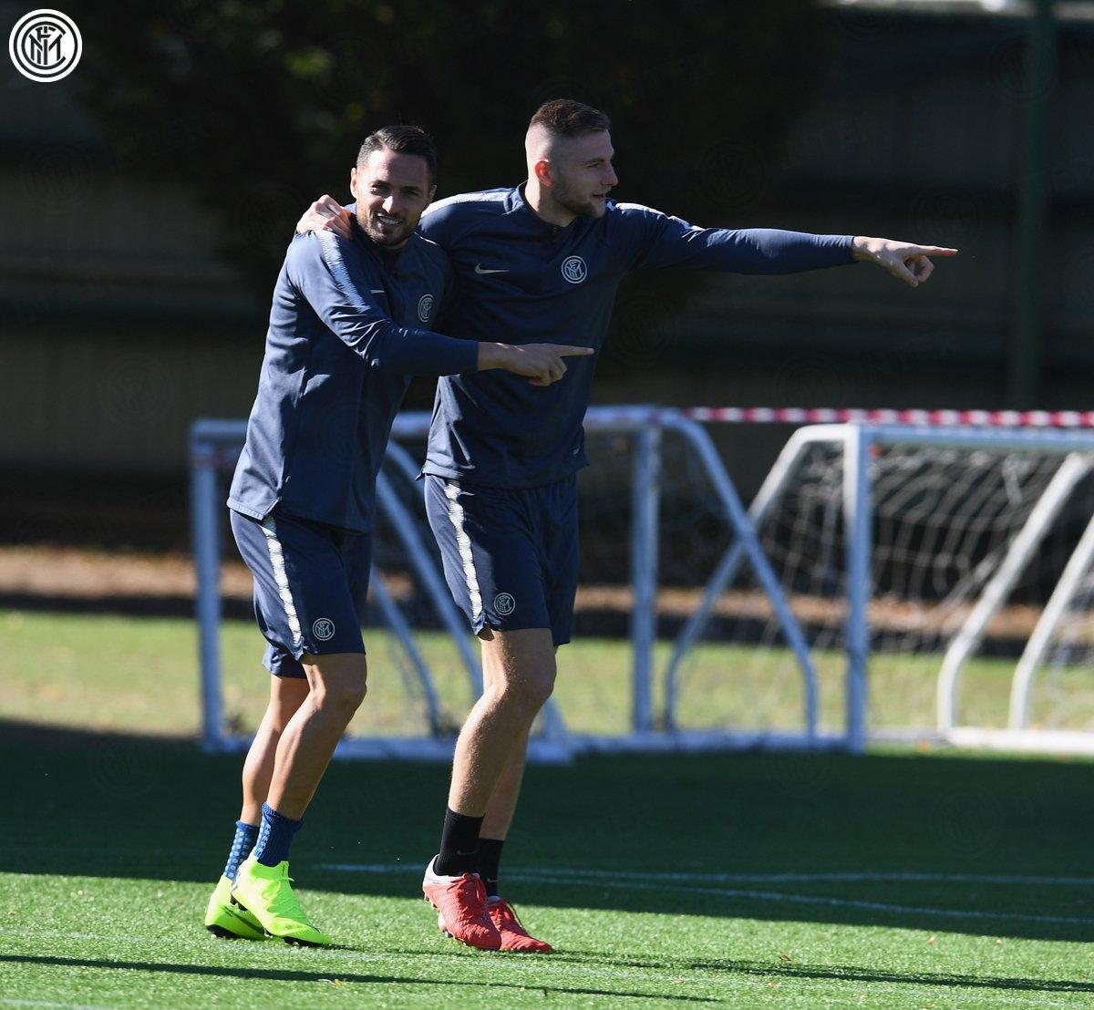 تدريب انتر ميلان الأخير قبل مواجهة برشلونة (4)