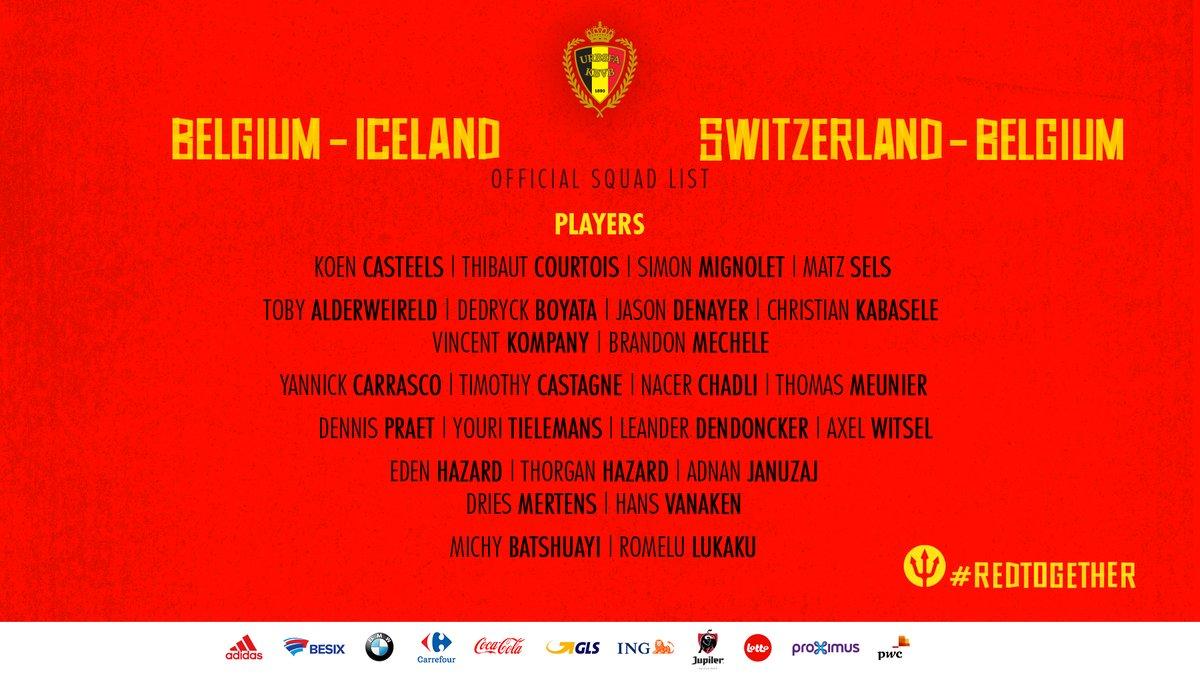 قائمة بلجيكا