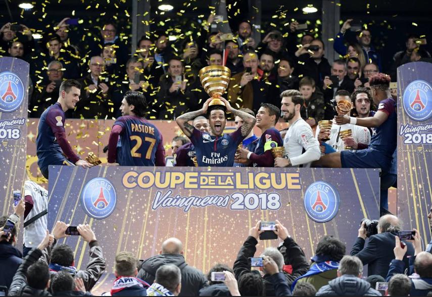 كأس الرابطة مع باريس سان جيرمان 2018