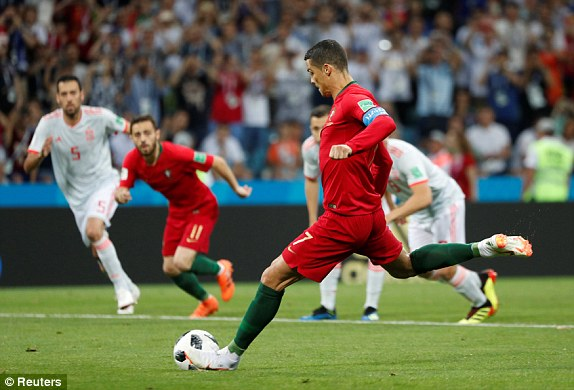 كرستيانو يسدد الكرة