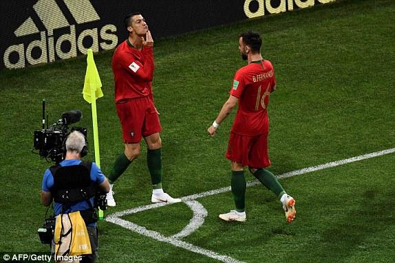 فرحة البرتغال بالهدف