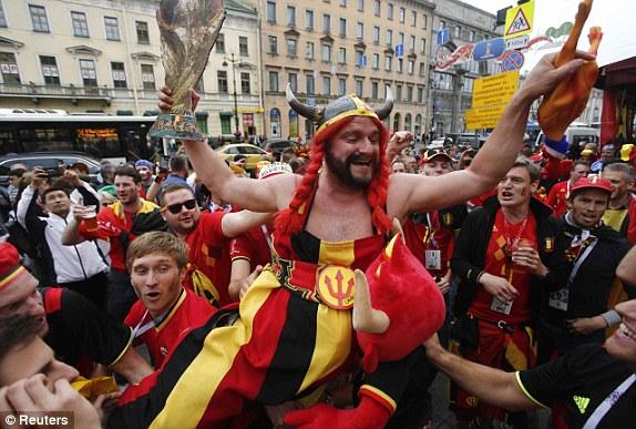 جماهير بلجيكا فى سان بطرسبرج