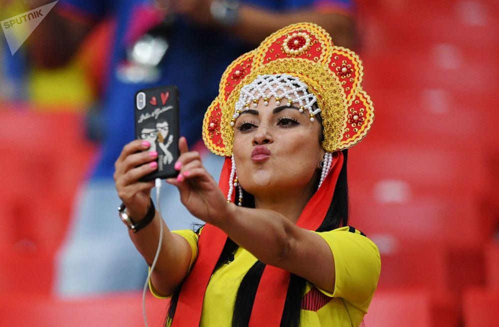 مشجعة من كولومبيا ترتدي كوكوشنيك
