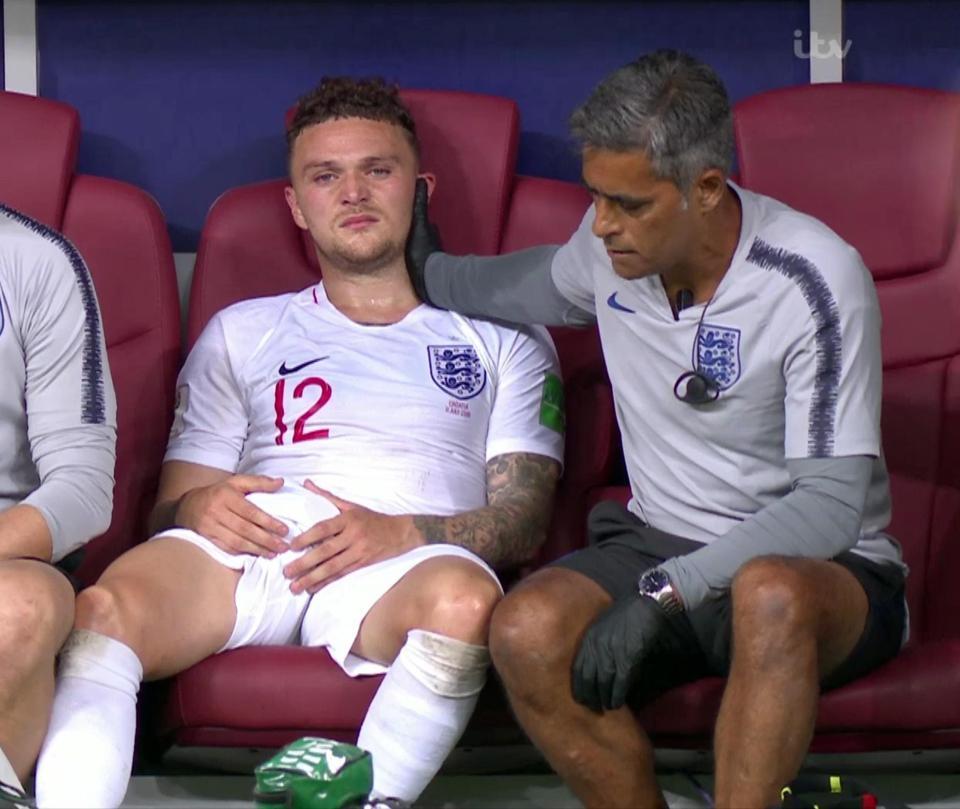 دموع وصدمة لاعبي إنجلترا بعد توديع المونديال (2)