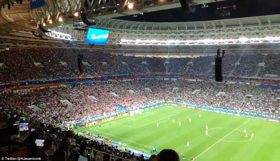 لاعبو كرواتيا بعد تسجيل الهدف
