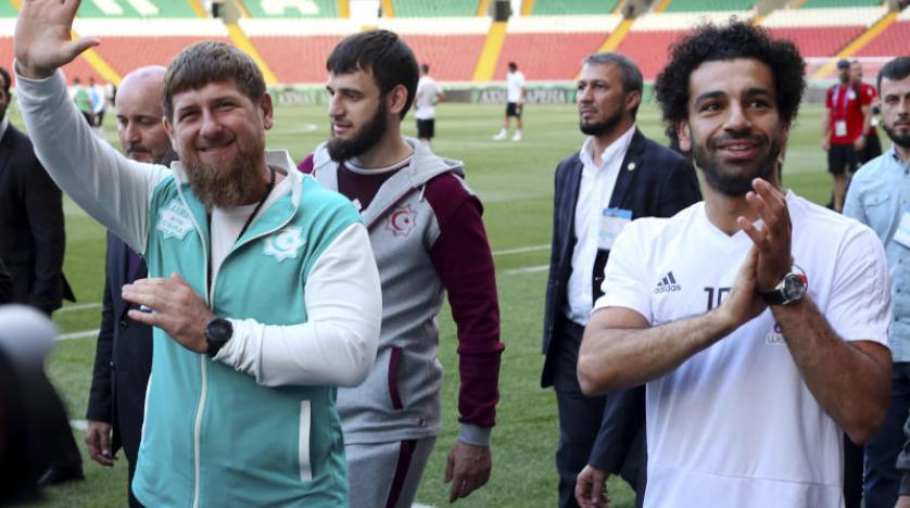 الرئيس الشيشاني يمنح صلاح حق المواطنة.