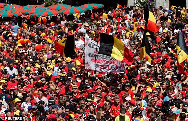 جماهير بلجيكا تحتفل بمنتخب بلادها