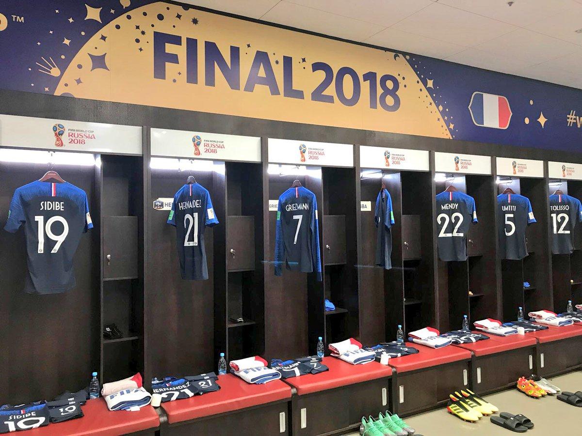 غرفة ملابس فرنسا