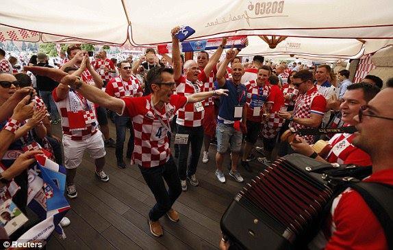 جماهير كرواتيا فى روسيا