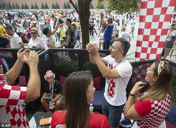 تشجيع الجماهير الكرواتية