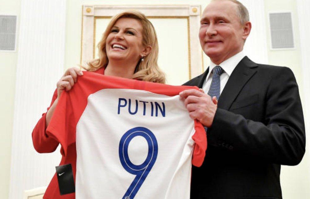 رئيسة كرواتيا مع بوتين