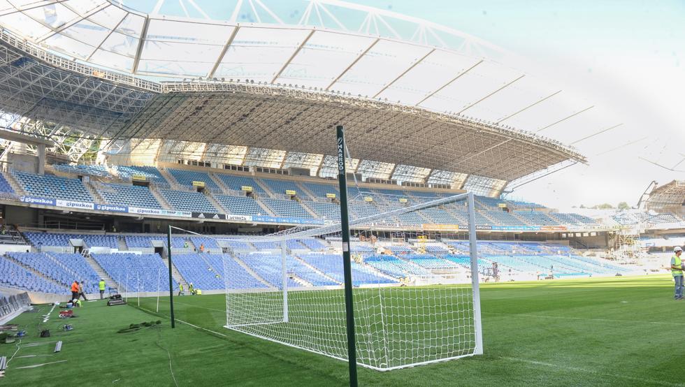 الملعب جاهز لإستضافة اللقاء