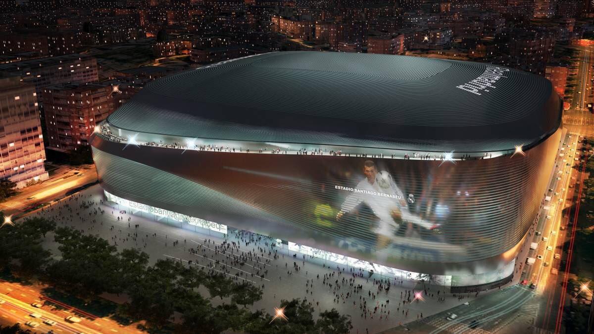 ملعب ريال مدريد بعد التطوير