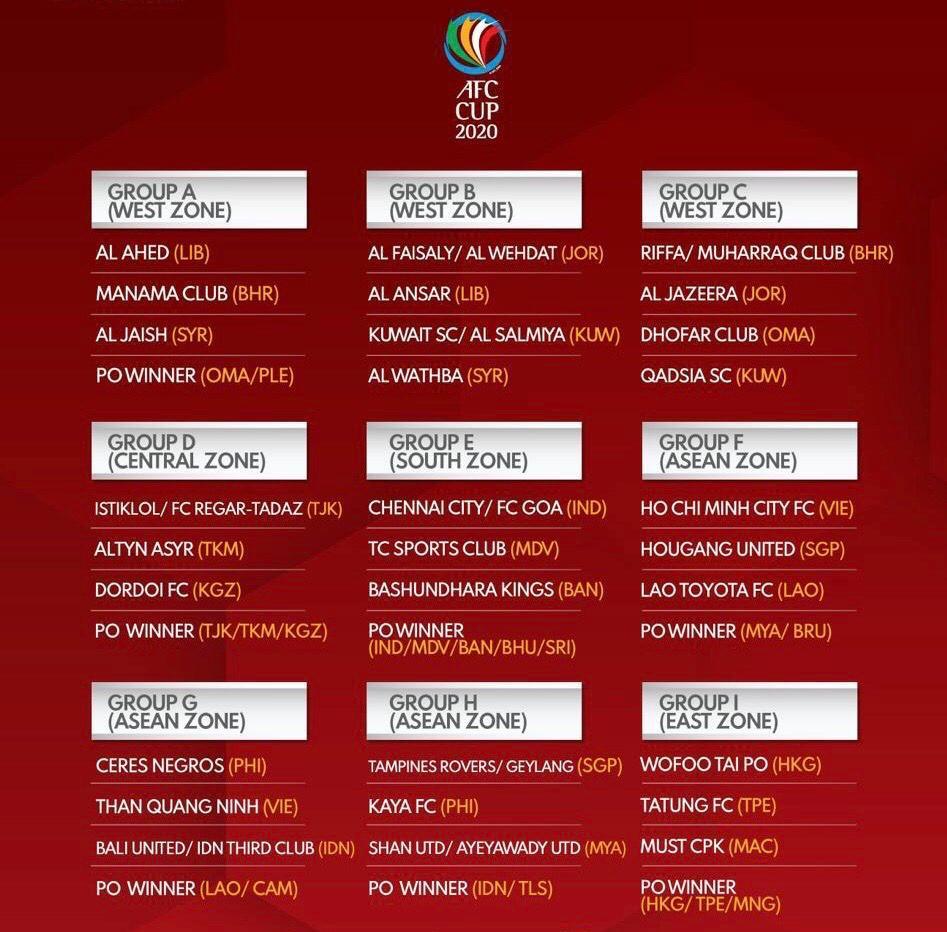 قرعة كأس الاتحاد الآسيوي