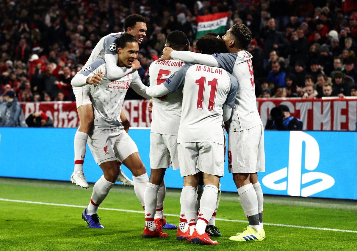 فرحة ليفربول بالهدف