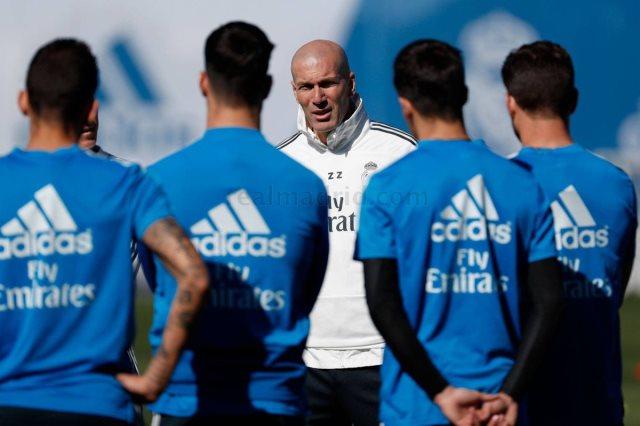 زيدان في تدريب ريال مدريد