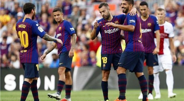 مشااهدة مباراة برشلونة ووهويسكا اليوم