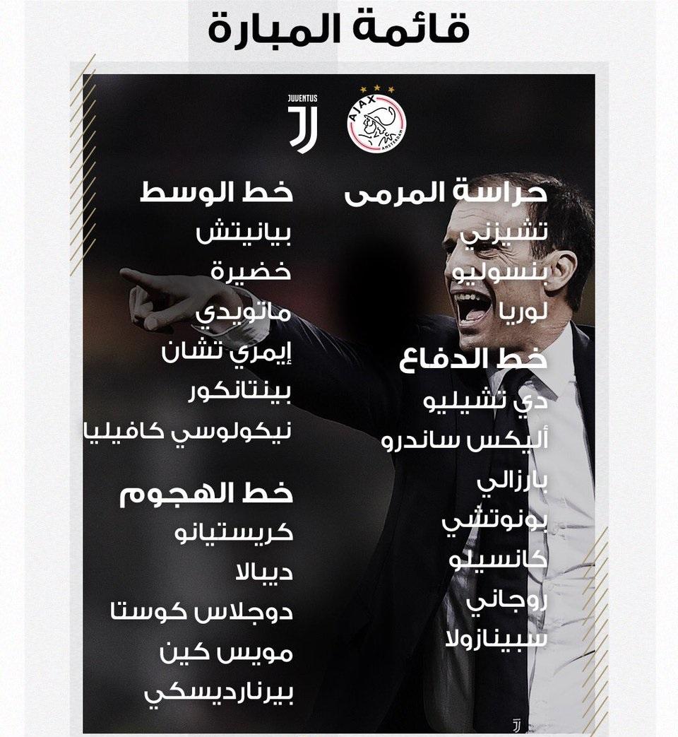 قائمة يوفنتوس