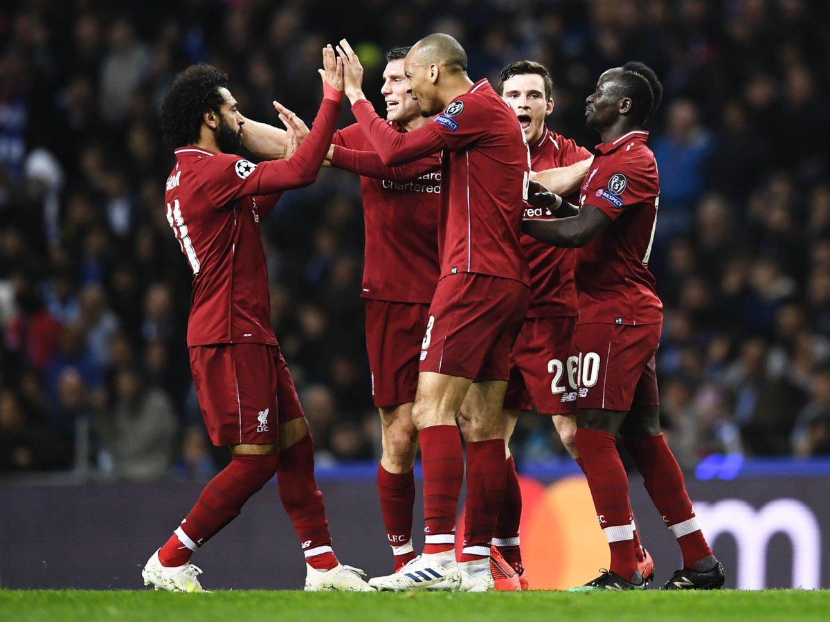 فرحة هدف ليفربول الأول