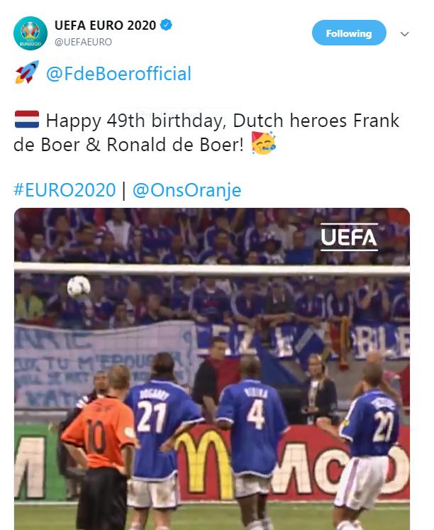 الصفحة الرسمية لبطولة الأمم الأوروبية
