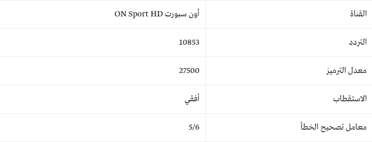 تردد قناة أون سبورت ON SPORT الناقلة لمباراة الأهلي ضد كانو سبورت