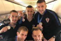 نجوم كرواتيا فى الطائرة
