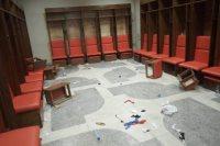 اثار تكسير غرف ملابس ملعب فيتا كلوب