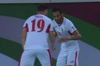 فرحة لاعبو الأردن أمام سوريا
