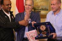 عشاء بعثة الزمالك فى منزل سفير مصر بكينيا