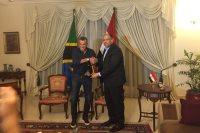 بعثة الأهلى و سفير مصر فى تنزانيا
