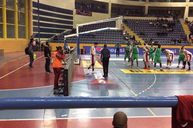 لقطة من لقاء مصر وبوروندي في التصفيات الأفريقية الخامسة لكرة السلة