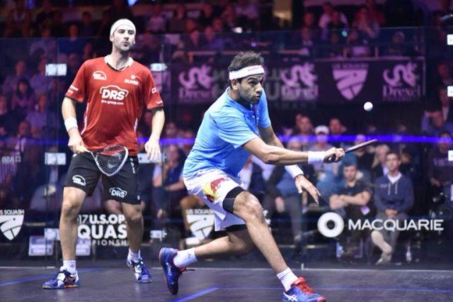محمد الشوربجي في بطولة أمريكا المفتوحة للاسكواش