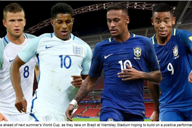 انجلترا والبرازيل