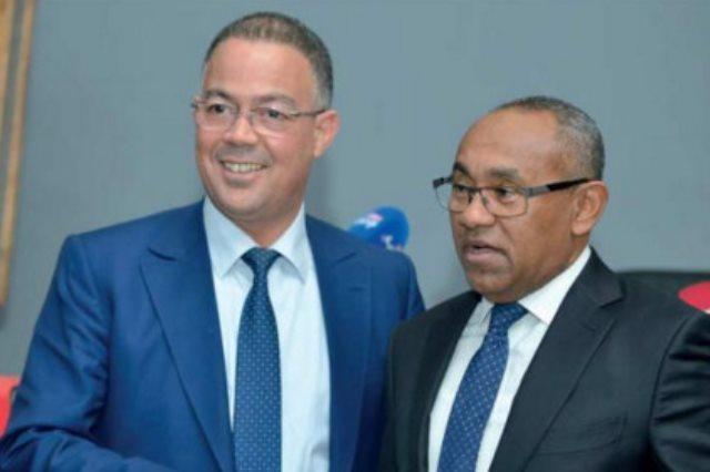 رئيس الاتحاد المغربى مع رئيس الاتحاد الافريقي