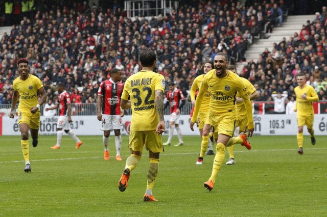 باريس سان جيرمان يتغلب على نيس 2-1