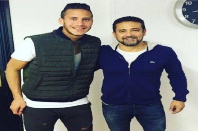 رمضان صبحي مع وكيله نادر شوقي