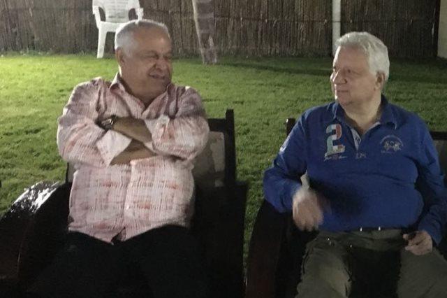 جلسة مرتضي منصور وفرج عامر
