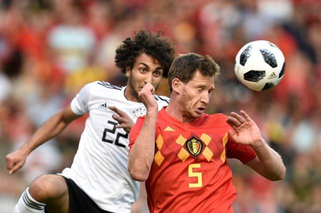 منتخب مصر و بلجيكا