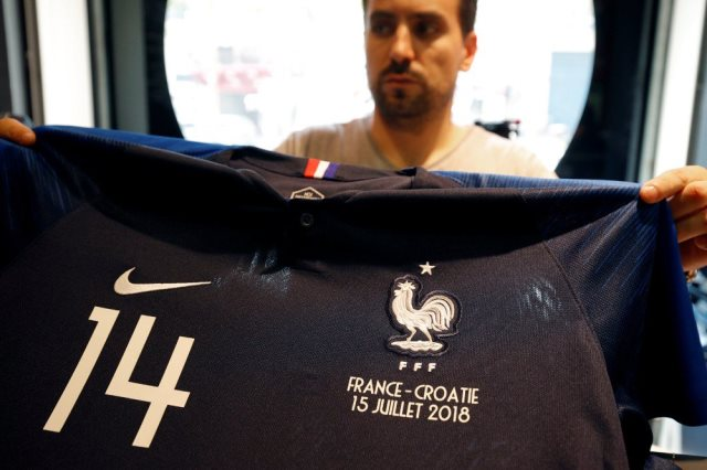 قميص المنتخب الفرنسى