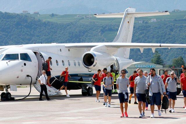 وصول أتلتيكو مدريد إلى إيطاليا