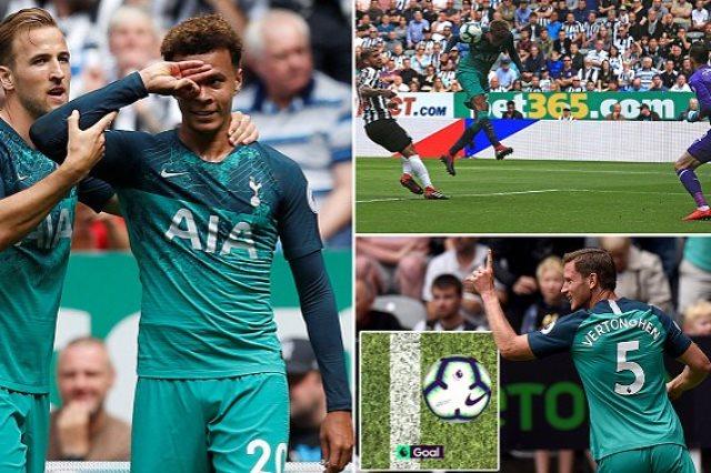 توتنهام يفوز على نيوكاسل 2-1