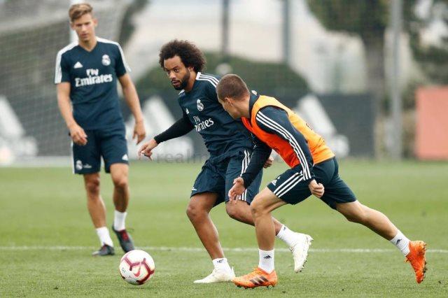 مارسيلو في تدريبات ريال مدريد